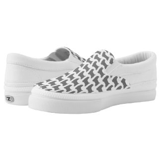 Silky Terrier Silhouettes Pattern Slip-On Shoes