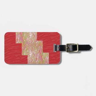 SILKY Waves n Elegant Red Fabric Print - LOW PRICE Bag Tag