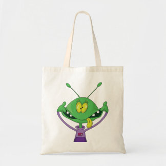 Silly Alien Halloween Tote Bag Budget Tote Bag