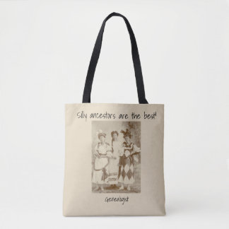 Silly ancestors are the best! tote bag