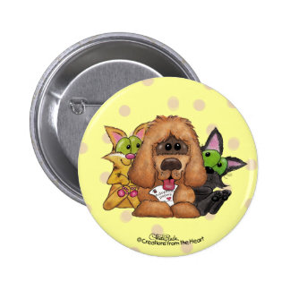 Silly and Tig with Sassie-Pet Adoption is LOVE 6 Cm Round Badge