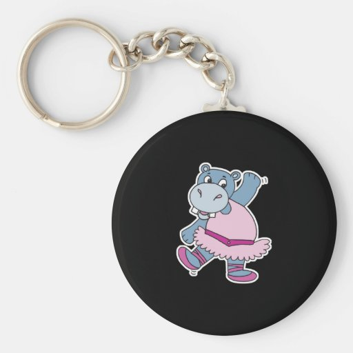 silly ballerina hippo key chain