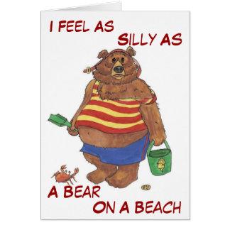Silly Beach Bear Card