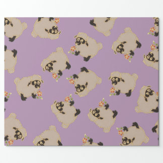 Silly Blackface sheep on  purple wrapping paper