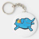 Silly Blue Elephant Keychains