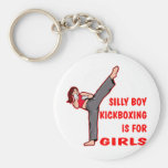 Silly Boy Kickboxing Is For Girls Basic Round Button Key Ring