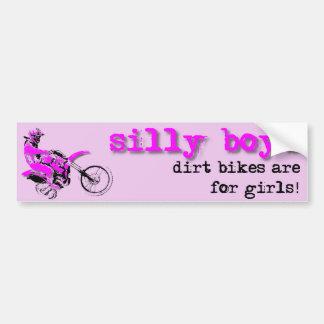 Silly Boys Dirt Bike Motocross Bumper Sticker