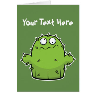 Silly Cactus Greeting Card