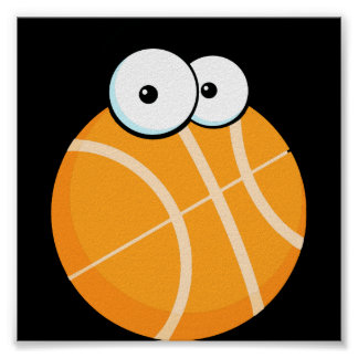 silly cartoon character basketball sports cartoon posters