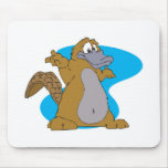 silly cartoon platypus mouse pad