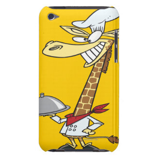 silly chef cook giraffe cartoon Case-Mate iPod touch case