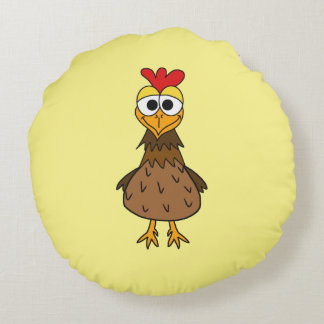 Silly Chicken Round Cushion