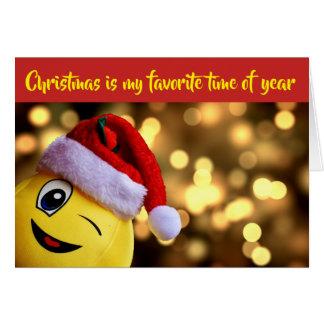 Silly Christmas Emoji Holiday Card