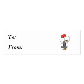 Silly Christmas Penguin Business Card