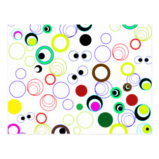 Silly Circles Background Postcard