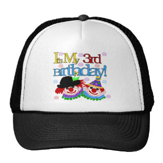 Silly Clowns 3rd Birthday Tshirts and Gifts Cap