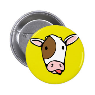 Silly cow tongue face 6 cm round badge