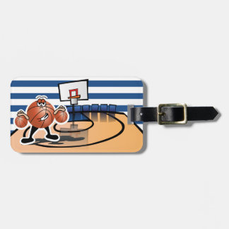 Silly Cute Basketball Sport Character Luggage Tag
