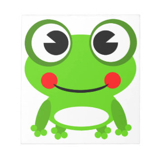 silly cute frog notepad