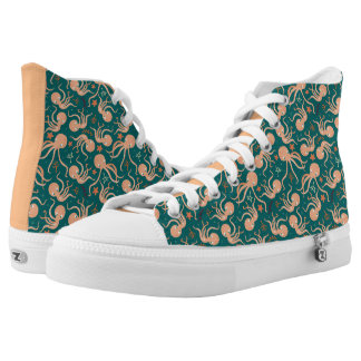 Silly Dancing Octopus Printed Shoes