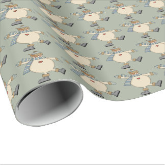 Silly Dancing Snowman Wrapping Paper