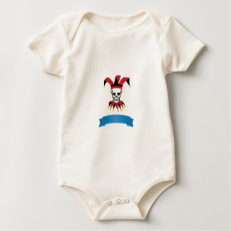 silly death clown baby bodysuit