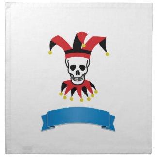 silly death clown napkin