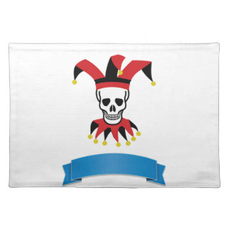 silly death clown placemat