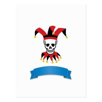 silly death clown postcard