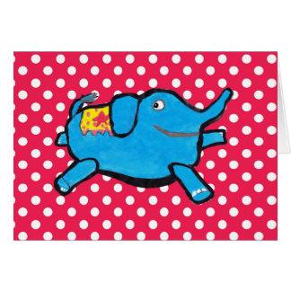 Silly Elephant Polka Dots Card