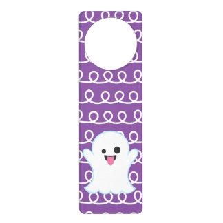Silly Emoji Ghost (purple swirl) Door Hanger