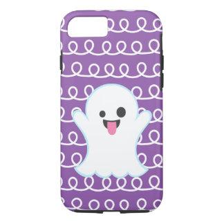 Silly Emoji Ghost (purple swirl) iPhone 8/7 Case