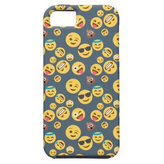 Silly Emoji Grey Pattern iPhone 5 Case