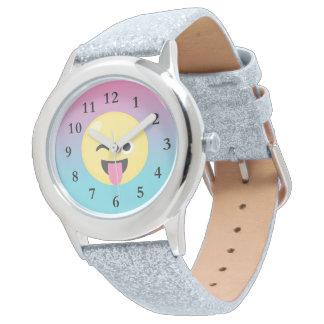 Silly Emoji Ombre Glitter Watch