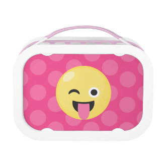Silly Emoji Polka Dots Lunch Boxes
