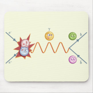 Silly Feynman Diagram Mouse Pad