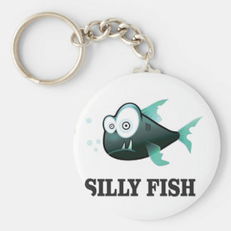 silly fish key ring