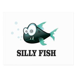 silly fish postcard