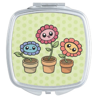 Silly Flowers compact mirror