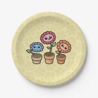 Silly Flowers paper plates
