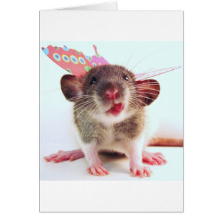 Silly Flutterby Rat Card