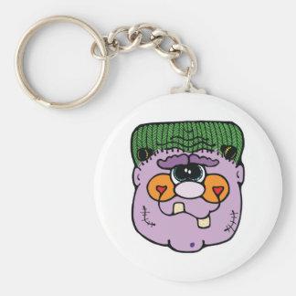 silly frankenstein basic round button key ring