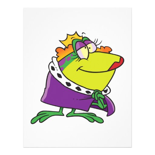 silly frog queen animal cartoon flyers