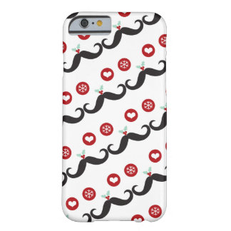 Silly Fun Cute Mustache Smiley Holiday Custom Barely There iPhone 6 Case