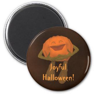 Silly funny Jack o lantern Halloween Refrigerator Magnet
