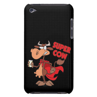 silly funny super cow cartoon character iPod Case-Mate cases