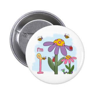 Silly Garden 1st Birthday Pinback Buttons