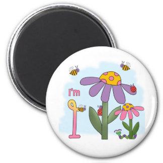 Silly Garden 1st Birthday Fridge Magnets