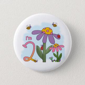 Silly Garden 2nd Birthday 6 Cm Round Badge