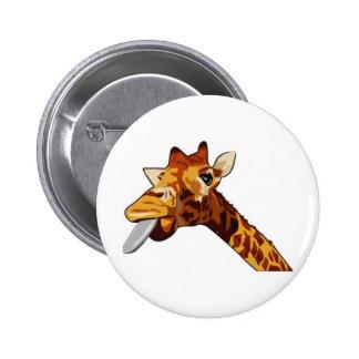 Silly Giraffe Button